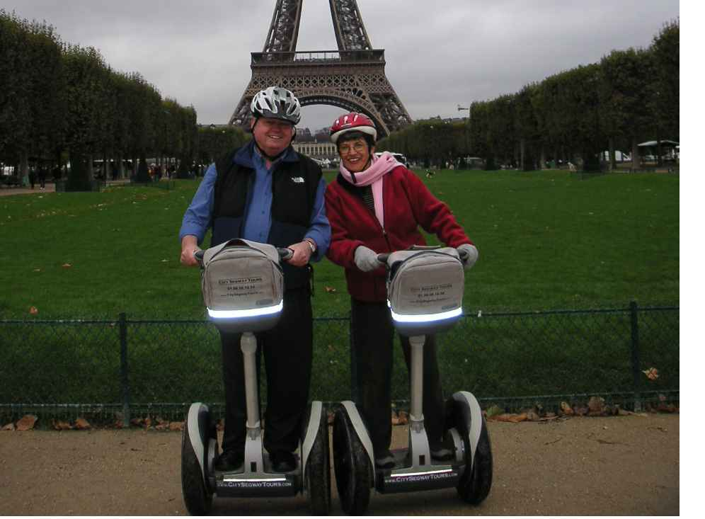 Ward and Norise on a Segway city tour
